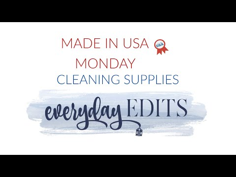 MADE IN USA MONDAY CLEANING PRODUCTS