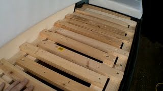 Rear Seat Boxes - Self Build Camper