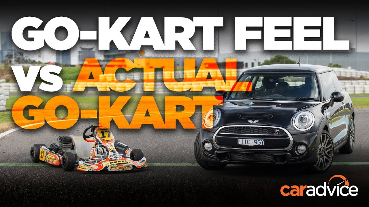 Go Kart V Car At The Race Track Which Is Quickest