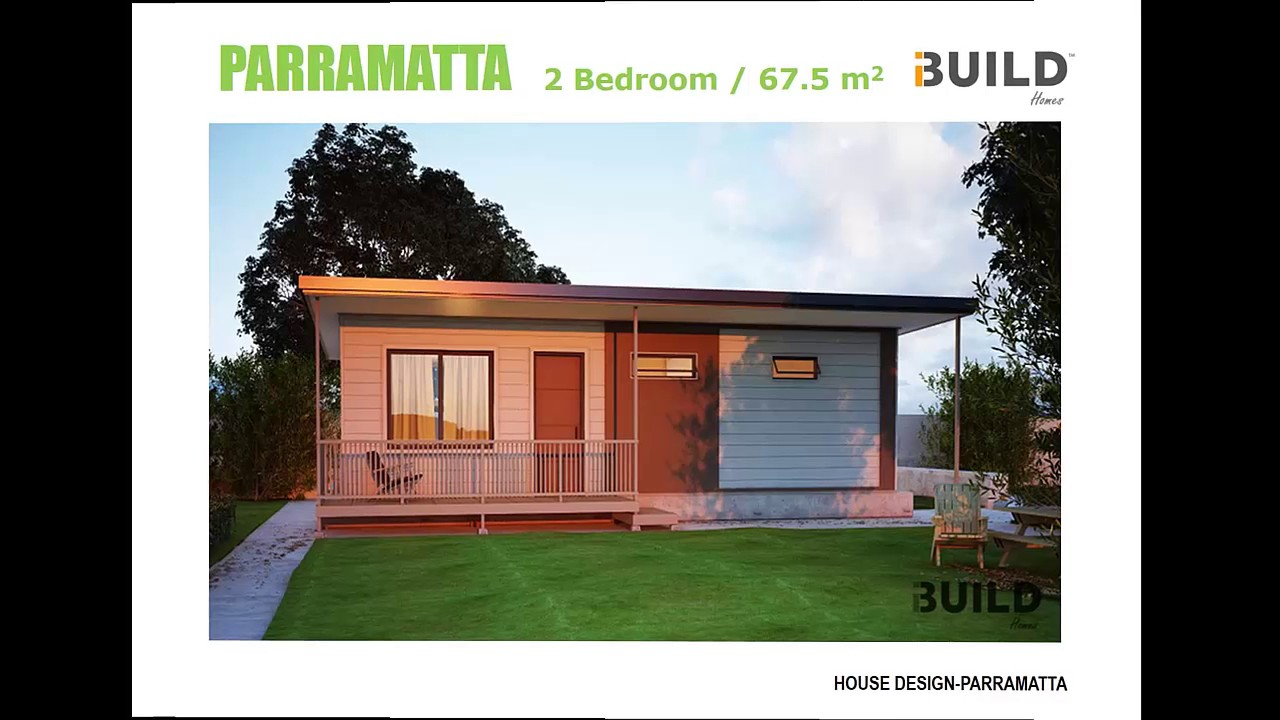 2 bedroom ibuild kit homes parramatta youtube for One bedroom home kits