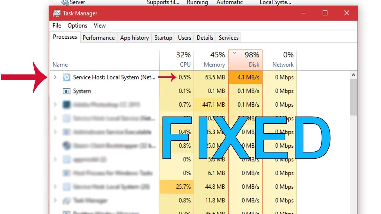 [EASY FIX] 100% disk usage fix with proof (Longer game load times)
