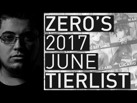 Super Smash Bros Wii U Tier List - TSM ZeRo (June 2017)