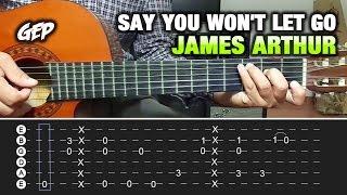 James arthur - say you won't let go | tutorial guitarra guitara lesson. (acordes, tabs, ritmo, rasgueo, chords) hola q tal, aquí les traigo un nuevo video ...