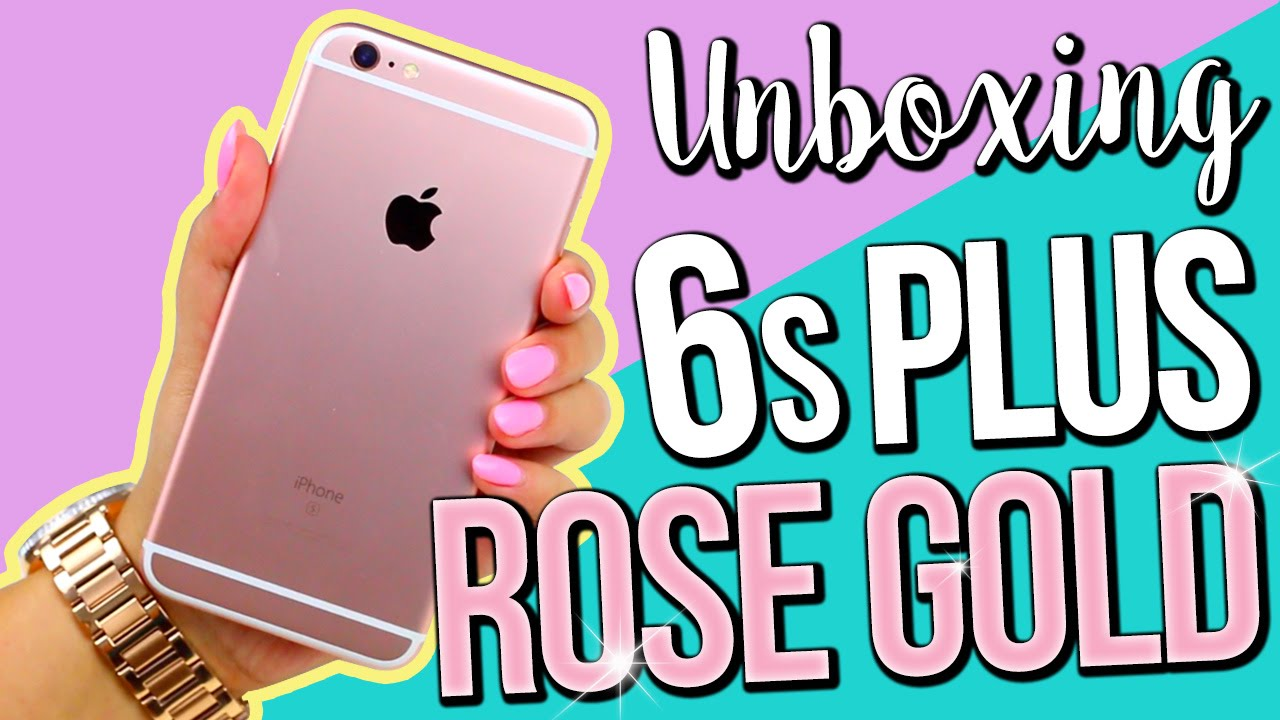 Rose Gold Iphone 6s Plus Unboxing Youtube