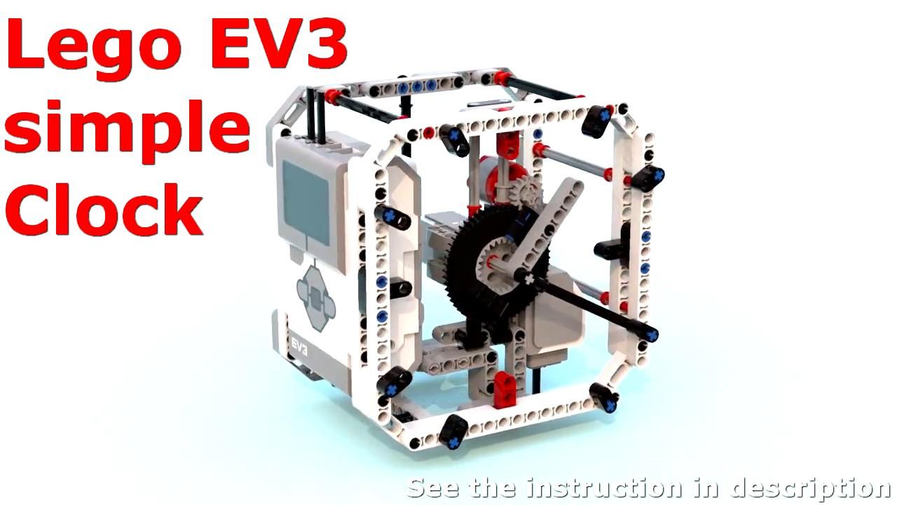 Lego Mindstorms EV3 simple Clock build instruction [45544]+[45560]