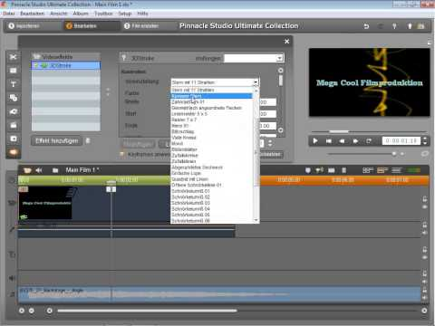 Logo Animation in Pinnacle Studio 14 und 15
