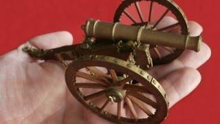 miniature handmade british 9 pounder cannon napoleonic wars 1 30 scale