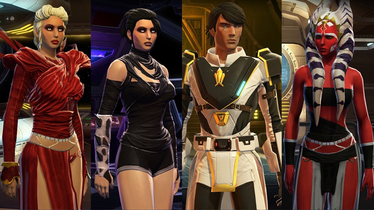 Swtor Characters Outfits My All 18 Best Armor New Update Youtube