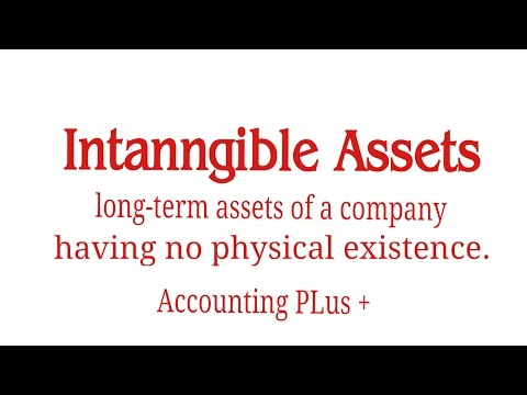 Intangible Assets/Intangible assets accounting