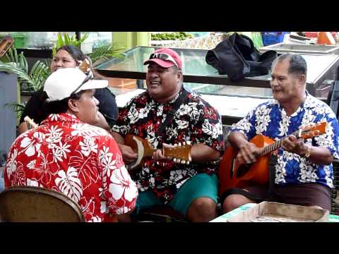 Traditional Tahiti Music at the Papeete Market