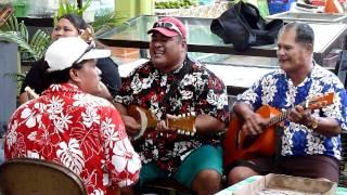 Traditional Tahiti Music at the Papeete Market