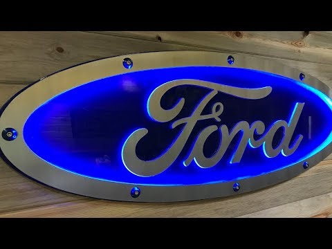 Incredible Man Cave Ideas - Aluminum Ford Blue Oval Sign!! - CNC Plasma Table