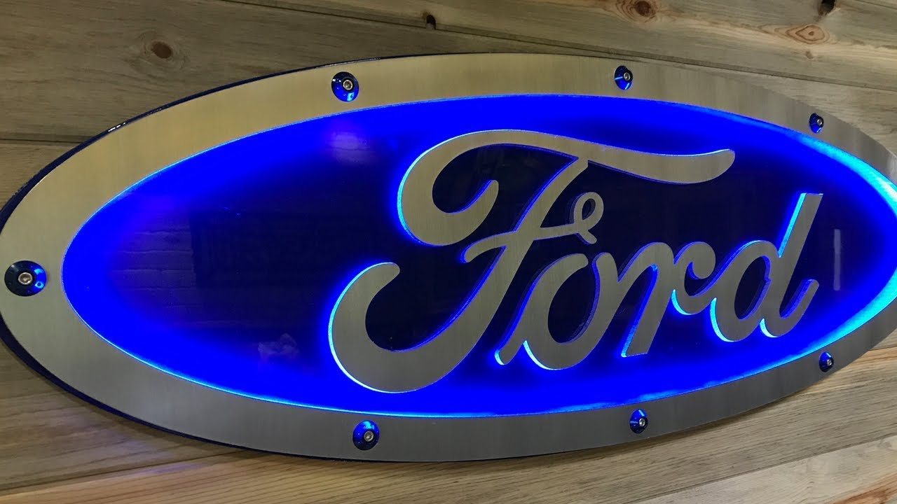 incredible man cave ideas aluminum ford blue oval sign. Black Bedroom Furniture Sets. Home Design Ideas