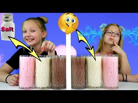 MommyCheated!!! Twin Telepathy Milkshake Challenge!!!