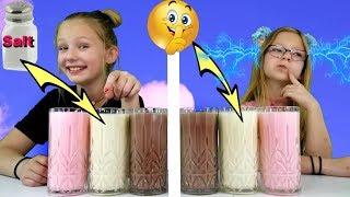 Mommy  Cheated!!! Twin Telepathy Milkshake Challenge!!!