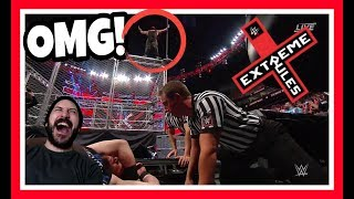 Reaction | Braun Strowman Throws Kevin Owens Off The Top Of The Steel Cage | WWE Extreme Rules 2018