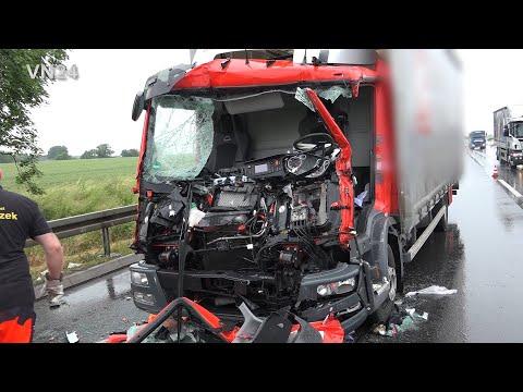 12.06.2019 - VN24 - Fahrer Eingeklemmt - LKW Unfall Auf A1 Bei Unna Fordert Verletzten