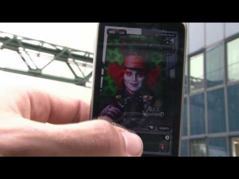 Walt Disney augmented reality demo (On the Layar augemented reality browser)