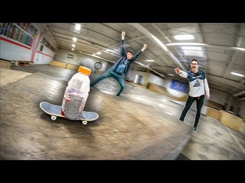 INSANE BOTTLE FLIP HANDBOARD CHALLENGE!