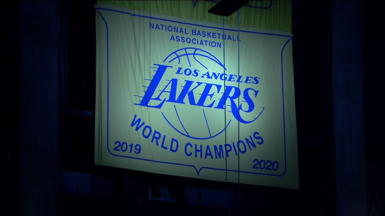 Lakers unveil 2020 NBA championship banner ahead of game vs ...