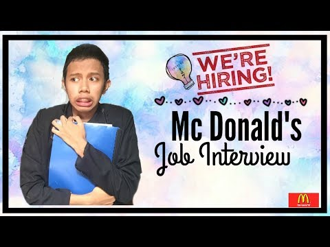 Job Interview At McDonald's  (Questions And Answers) Philippines