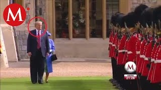 Reina Isabel II recibe a Donald Trump