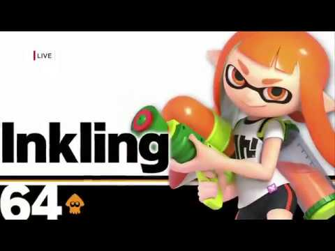 Super Smash Bros. Ultimate New Character Inkling Gameplay - E3 2018