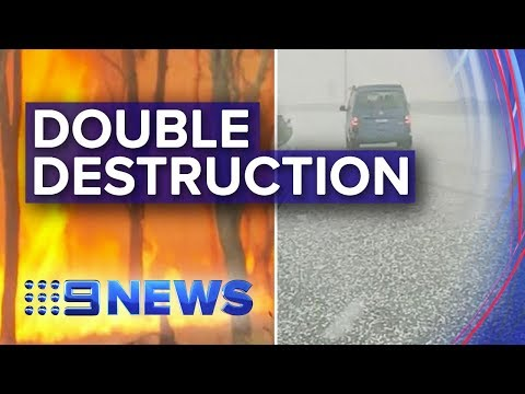 QLD Hit With Supercell Storm As It Battles Bushfires | Nine News Australia