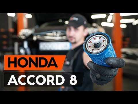 How to replace oil filter and engine oil on HONDA ACCORD 8 (CU2) [TUTORIAL AUTODOC]