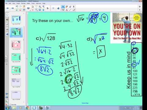 Unit 4.6 Complex Numbers
