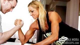 Amazon Muscle Girl Vs Big Guy