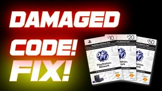 How to Fix: Damaged Code on PSN Card