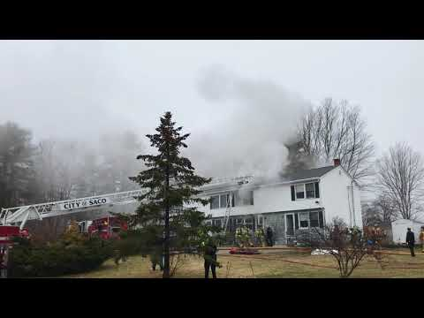 Structure fire on Cumberland Ave in Saco