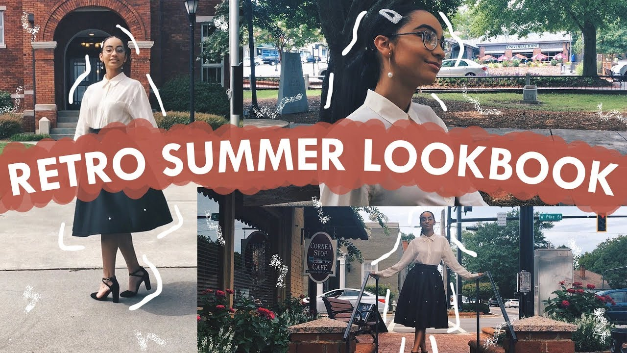 RETRO SUMMER LOOKBOOK 2019 *vintage outfit ideas* | Bella King 2