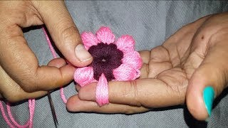 Amazing Finger Trick Flower By Hand Embroidery // amazing tricks Design