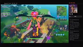 Fortnite on PS4 with the Synth Star skin