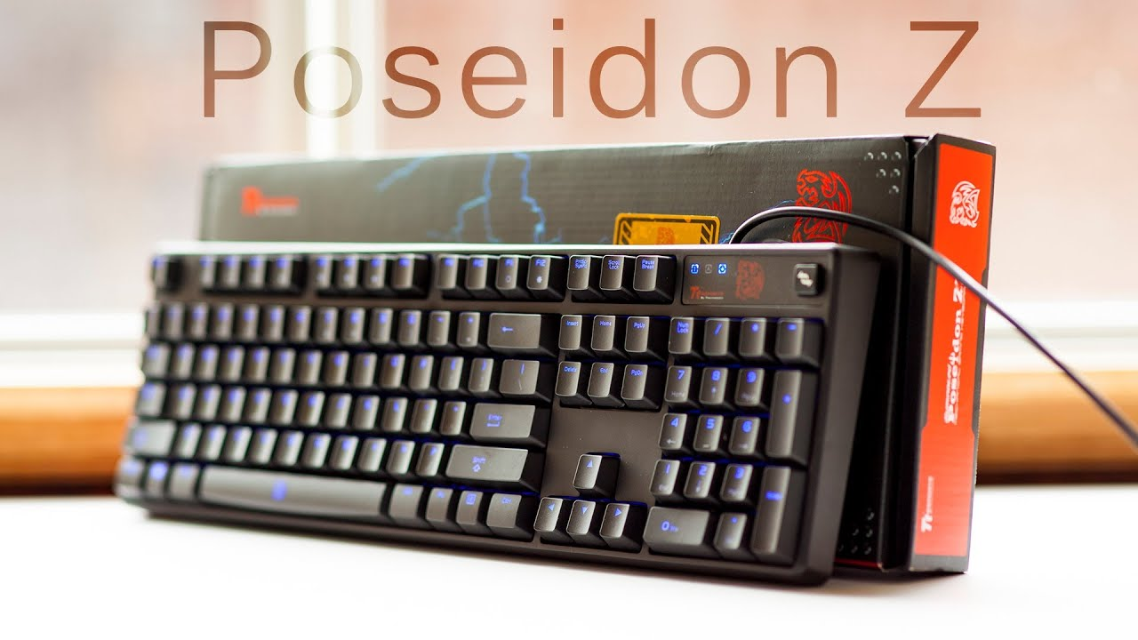 Thermaltake Tt eSports Poseidon Z Mechanical Keyboard Kailh Blue Switch Review
