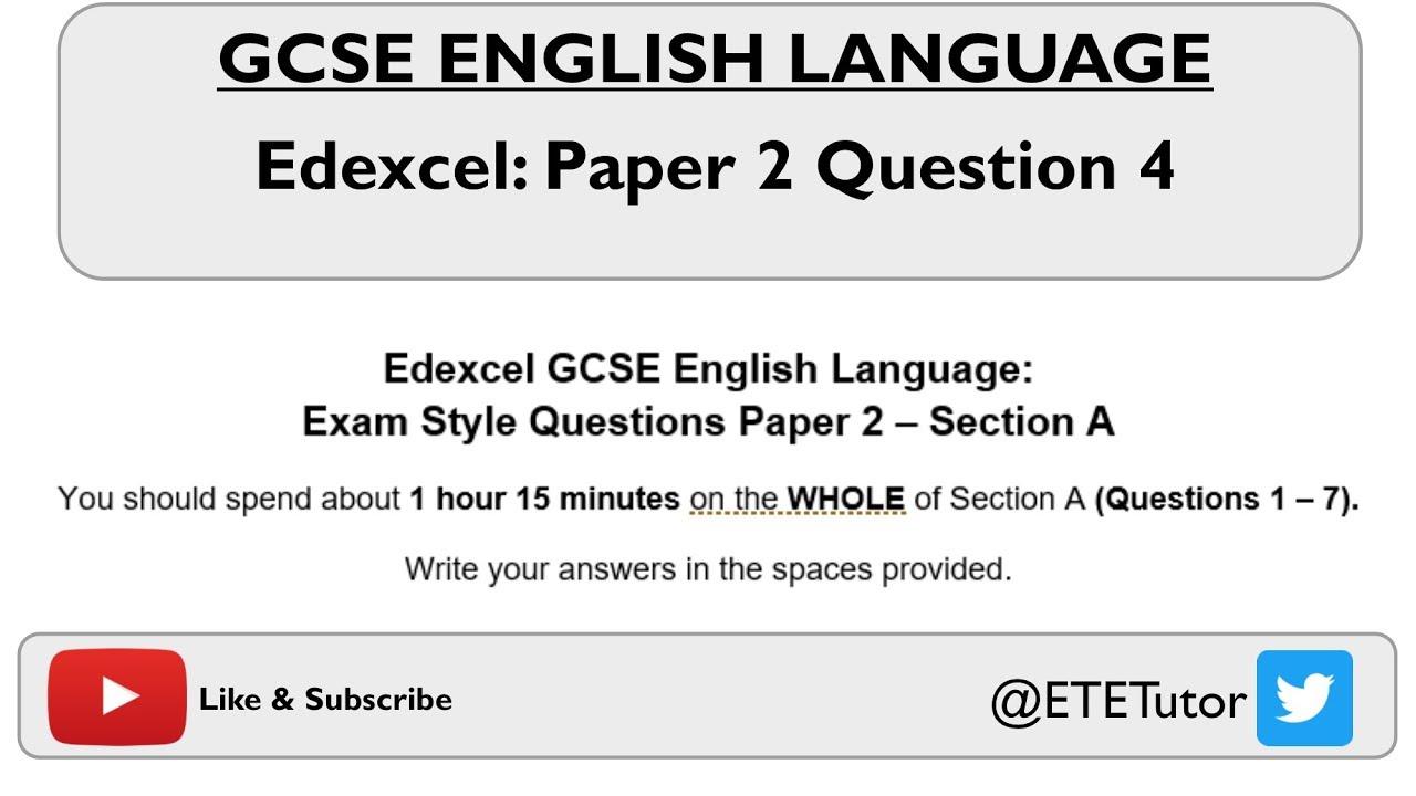 AQA English Language Paper 2 Question 2 - advance