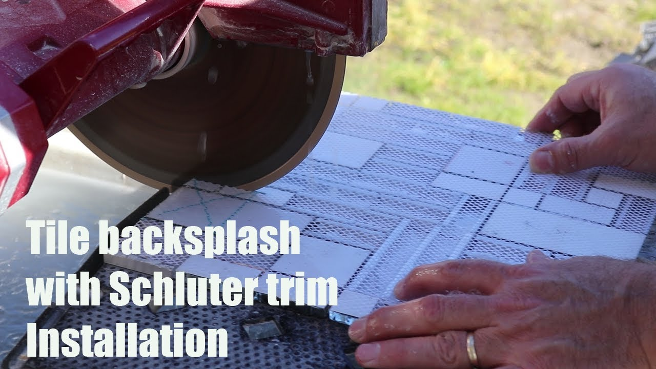 How To Install Tile Backsplash with Schluter Trim - YouTube