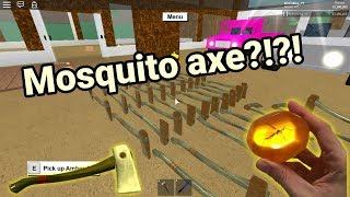 Roblox Lumber Tycoon 2 | Mosquito Axe in the new Amber Axe box? | Lets open 50 axes