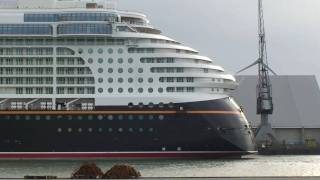 "Cruise ship ""Disney Dream"", voyage from the Meyer Shipyard Papenburg to the North Sea Nov. 12, 2010"