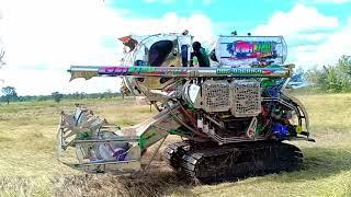 รถเกี่ยวข้าวติดตู้แอร์-รถเกี่ยวนวดข้าว-สมบุญพัฒนา-combine-harvester