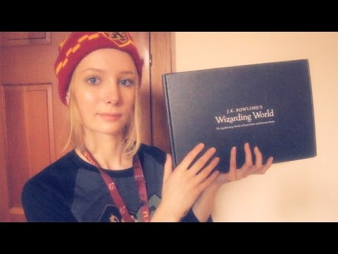 ASMR Unboxing Harry Potter Loot Crate ~ Whisper, Tapping, Scratching, Fabric, Ear to Ear, Crinkles