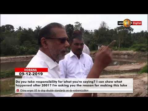 State Min. Vidura Wickremenayaje Uncovers Illegal Sand Mining Operation