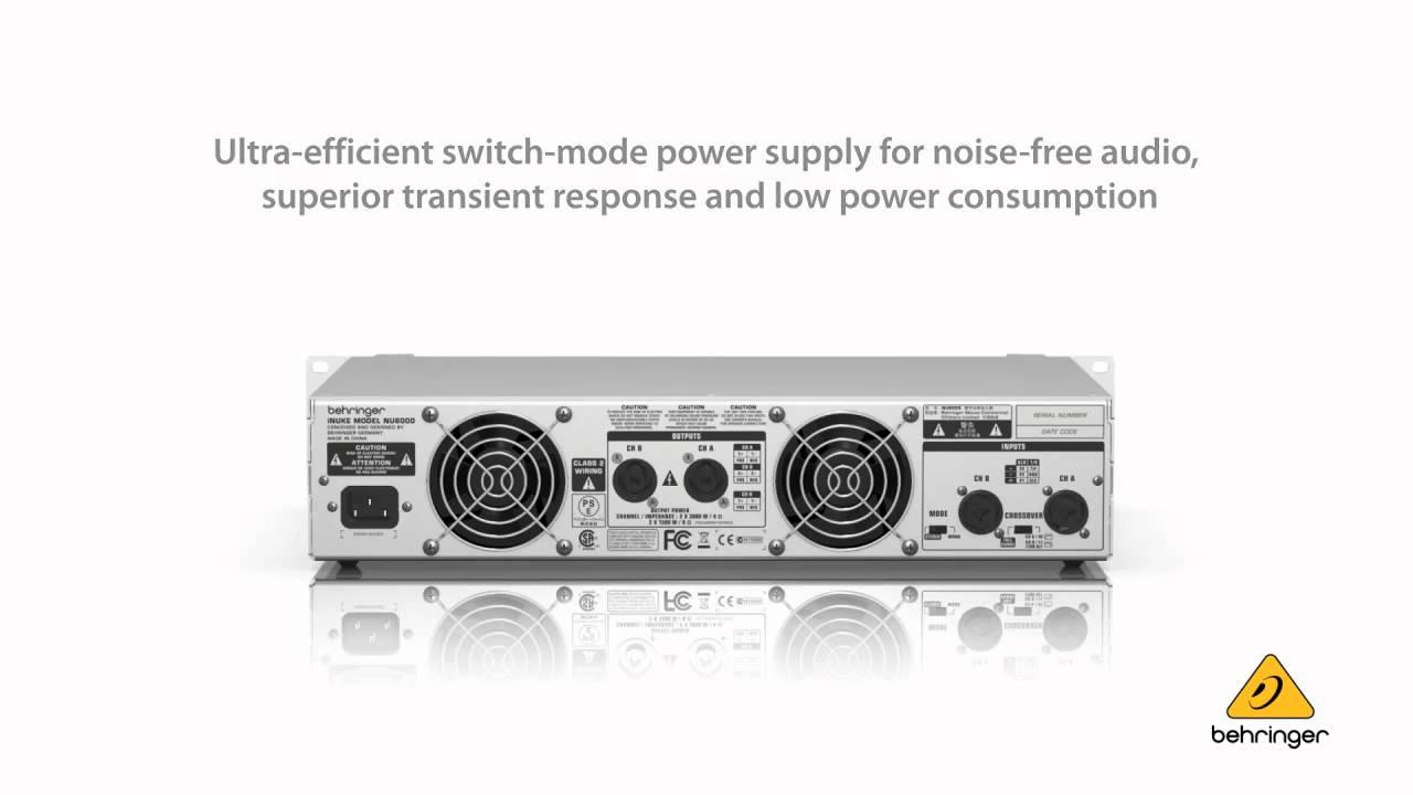 Behringer Inuke Nu6000 Ultra Lightweight High Density 6000 Watt 25 Power Amplifier Youtube