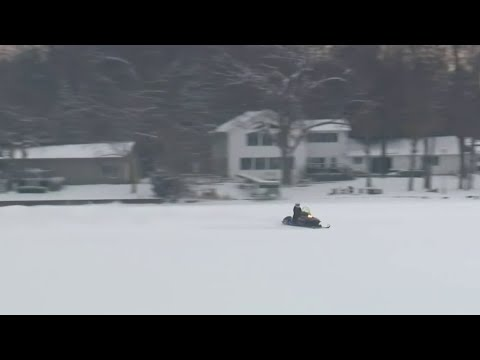 Man Dies After Snowmobile Falls Through Ice On Wolverine Lake