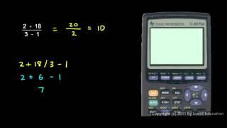 Prealgebra 2.07e - Using a Calculator.