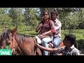 Indian couple double horse riding in vacation | घुड़सवारी करते सैलानी | indian actress horse riding