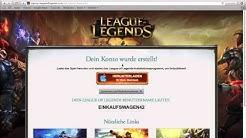 League of Legends - Account erstellen Deutsch/German Tutorial
