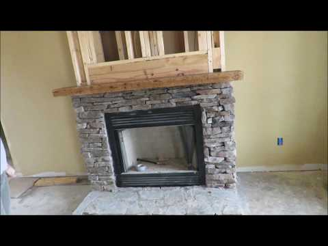"how-to-make-and-install-a-rustic-mantle.-solid-hickory,-3""-thick,-easy-way-to-install."